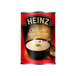 Jasa Internacional. Heinz. Sopa Pollo y Champiñones