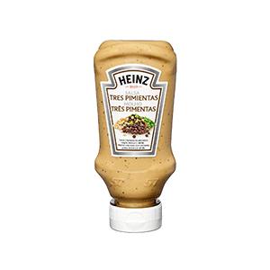 Jasa Internacional. Heinz. Salsa Tres Pimientas Bocabajo