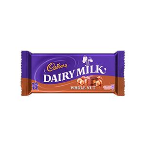 Jasa Internacional. Cadbury. Dairy Milk Wholenut 120g