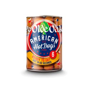 Jasa Internacional. Ye Olde Oak. Hot Dogs Americanos