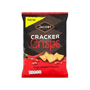 Jasa Internacional. Jacob's. Cracker Crisps Chilli Dulce Tailandés