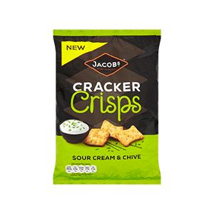 Jasa Internacional. Jacob's. Cracker Crisps Nata Agria y Cebollino
