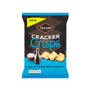 Jasa Internacional. Jacob's. Cracker Crisps Sal y Vinagre Balsámico